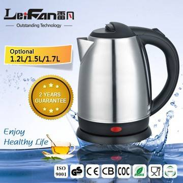 360 rotatinal cordless stainless steel cheap kettle 1.7L