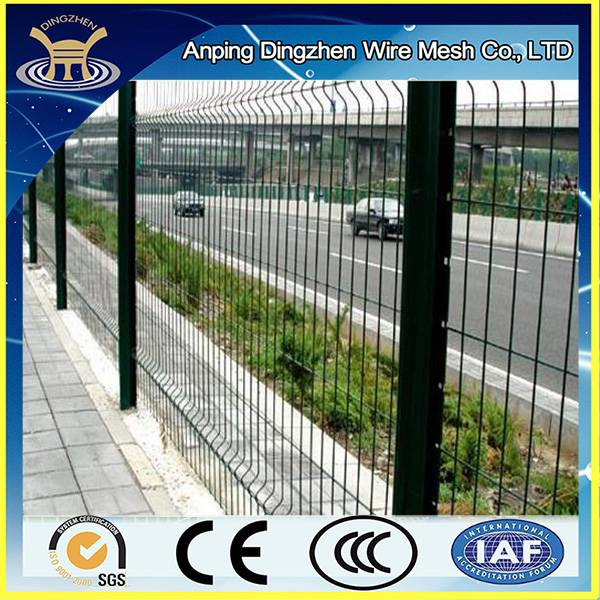 hot dipped /electro galvanzied 3d bending fence