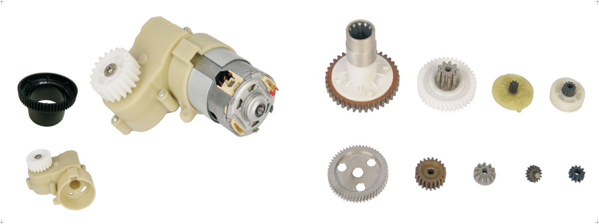 Injection plastic gear and gear box