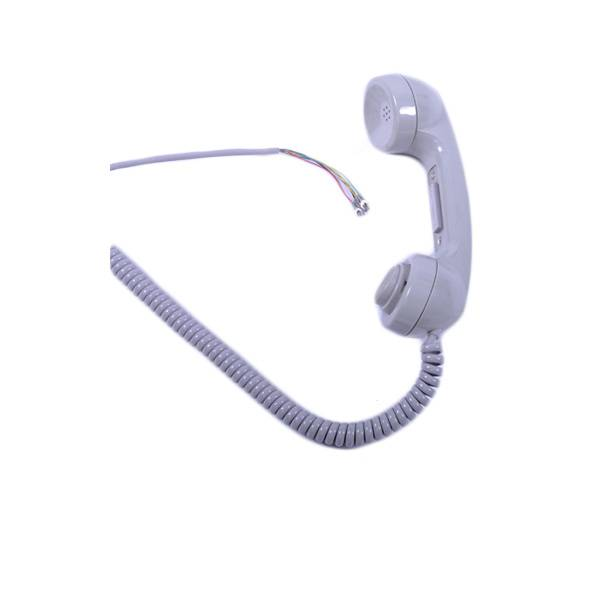White shell colore noise cancelling industrial IP65 defend grade telephone handset