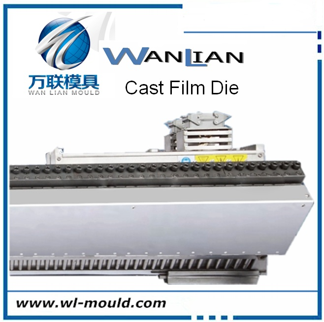 Extrusion cast flat film die head for pvc extrusion machine