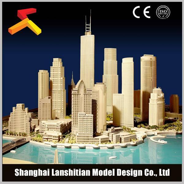 Urban model making, high-quality building model
