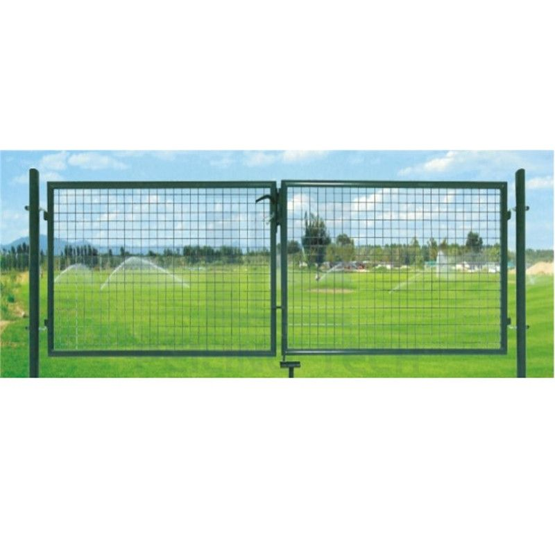 Round Pipe Double Wing Europe Entrance Garden Gate