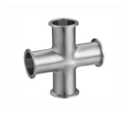 Sanitary stainless steel tri slamp fittings 4 Way Cross B9MP