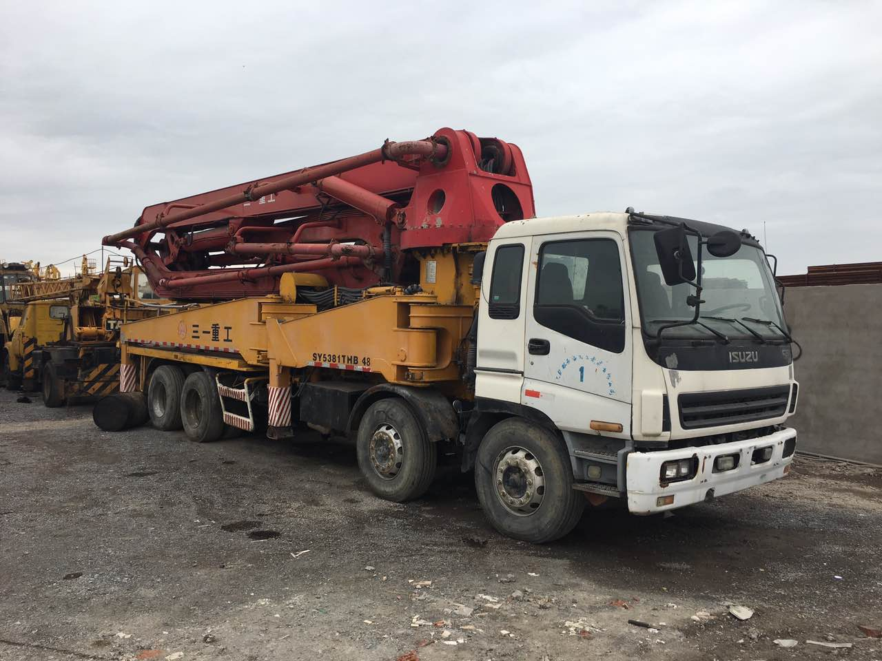 21m 37m truck mounted concrete pump for sale, Volvo Hino Isuzu Benz chassis available