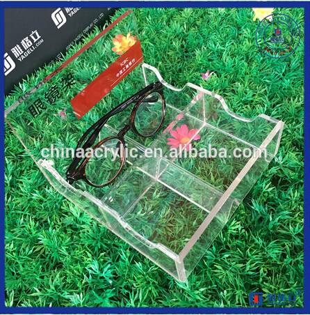 Acrylic Eyeglasses Display Case with Back Holder