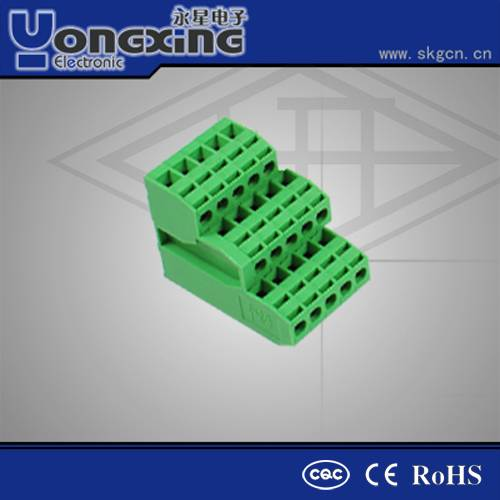 Hot sale Europe Type 3.81mm 12A 300V PCB Plug socket pin Terminal Blocks connectors