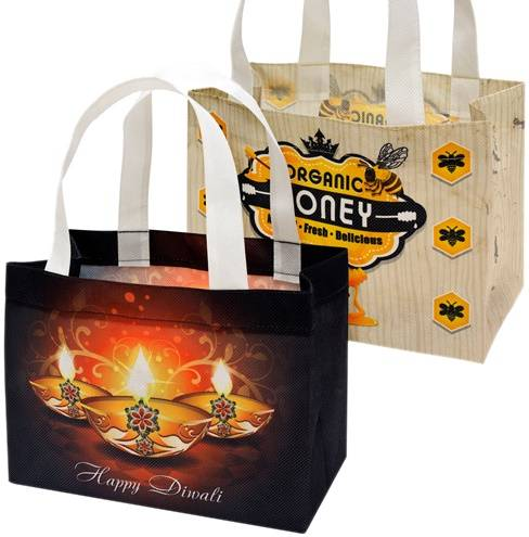 PET non-woven shopping bag by sublimation