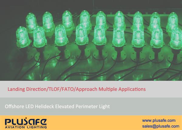 LED Green Heliport Landing Direction Light 25cm Aluminum Housing