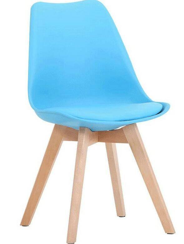 Wholesale Indoor modern design Colorful Solid Leg Plastic Chair