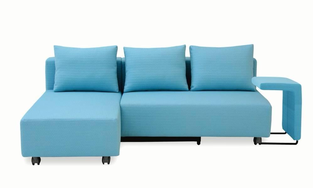 Modern Europe Style Fabric Folding Corner Sofa Bed Set Home Furniture