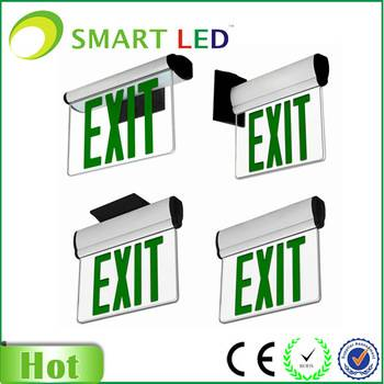 LED Emergency exit sign light with backup battery