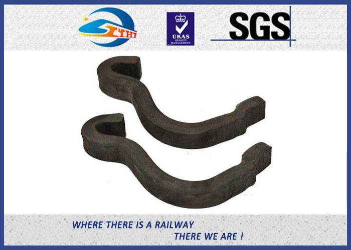 ZhongYue Black 60Si2Mn Steel Rail Anchors / Section Bar heat - treated For Railroad