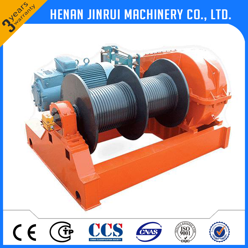 Double drum 500m pulling rope electrica winch price