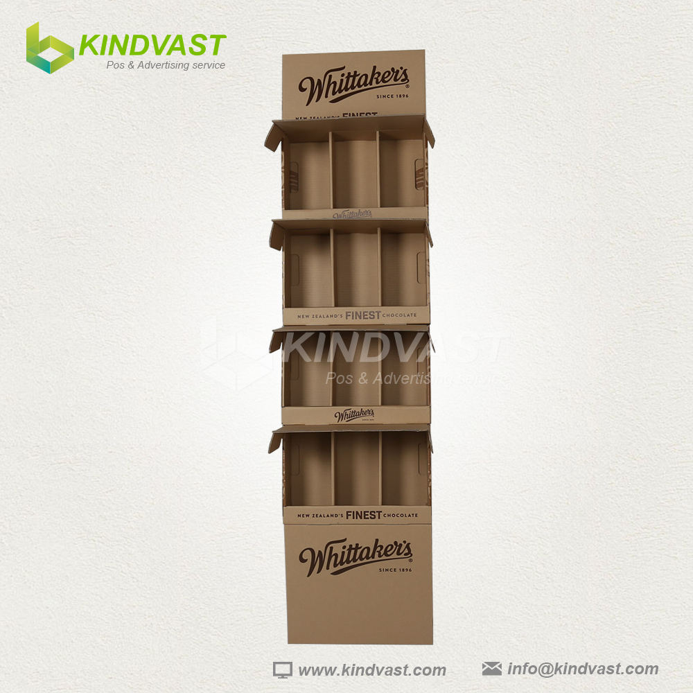 Craft color high quality corrugated cardboard display stand