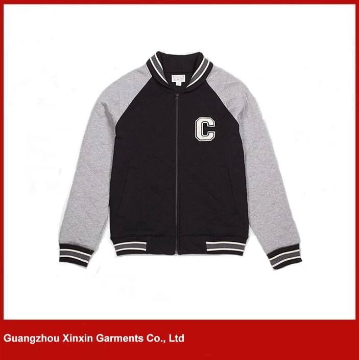 Custom Men's Cotton Hoodie Baseball Varsity Jacket in different colors