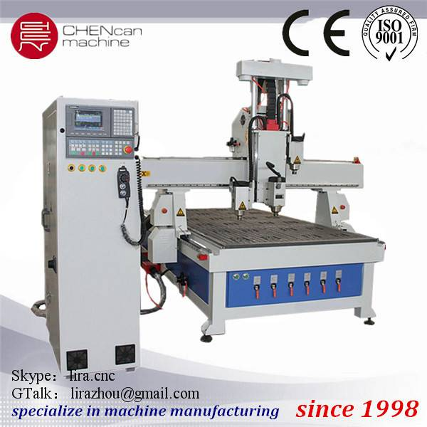 Wood Door making Multi Head Engraving Machine with middle head rotate