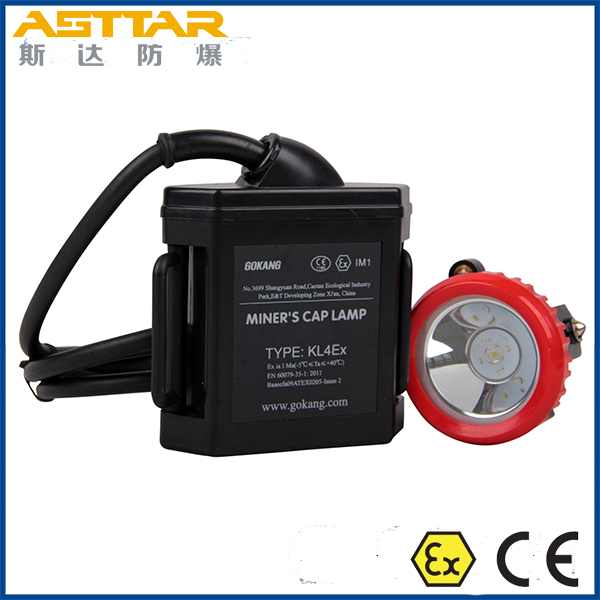 ATEX rechargeable led miners cap lamp, kl4ex explosion proof mining cap lamp and miners headlamp