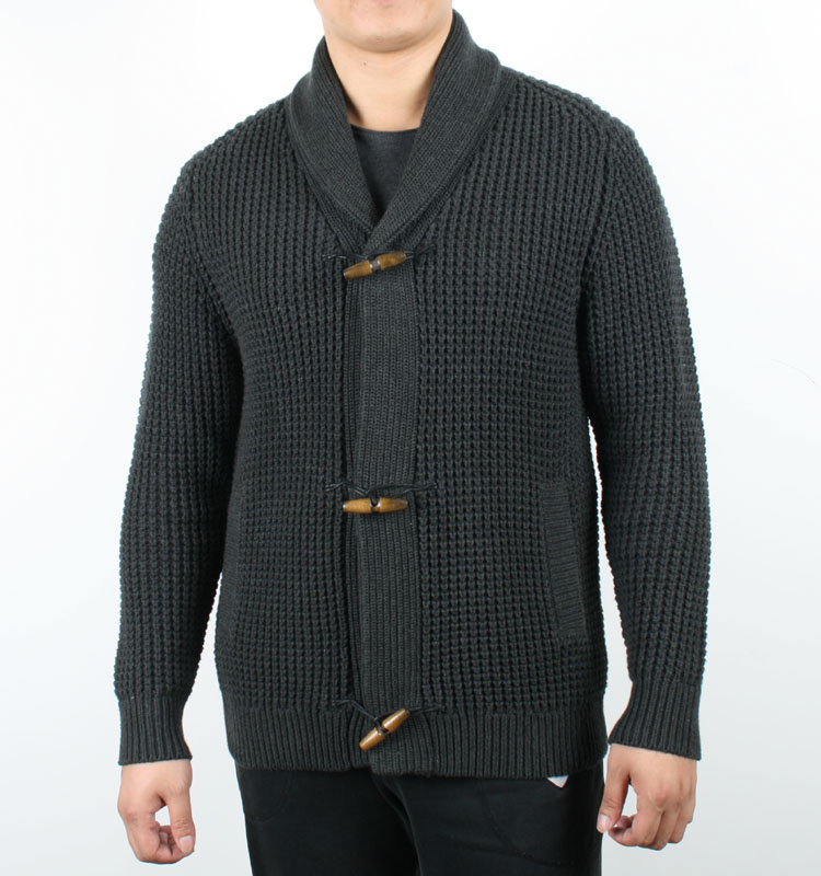 Heavey Weight Fine Knit Oversized Men Shawl Collar Cardigan