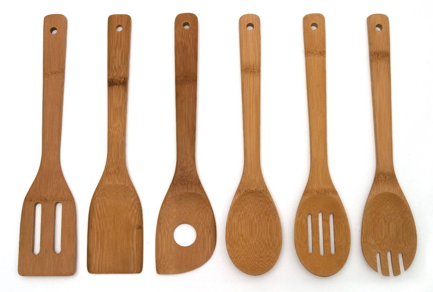 China Long Handle Bamboo Wooden Kitchen Utensil Cookware Gift Spatula and Spoon Set
