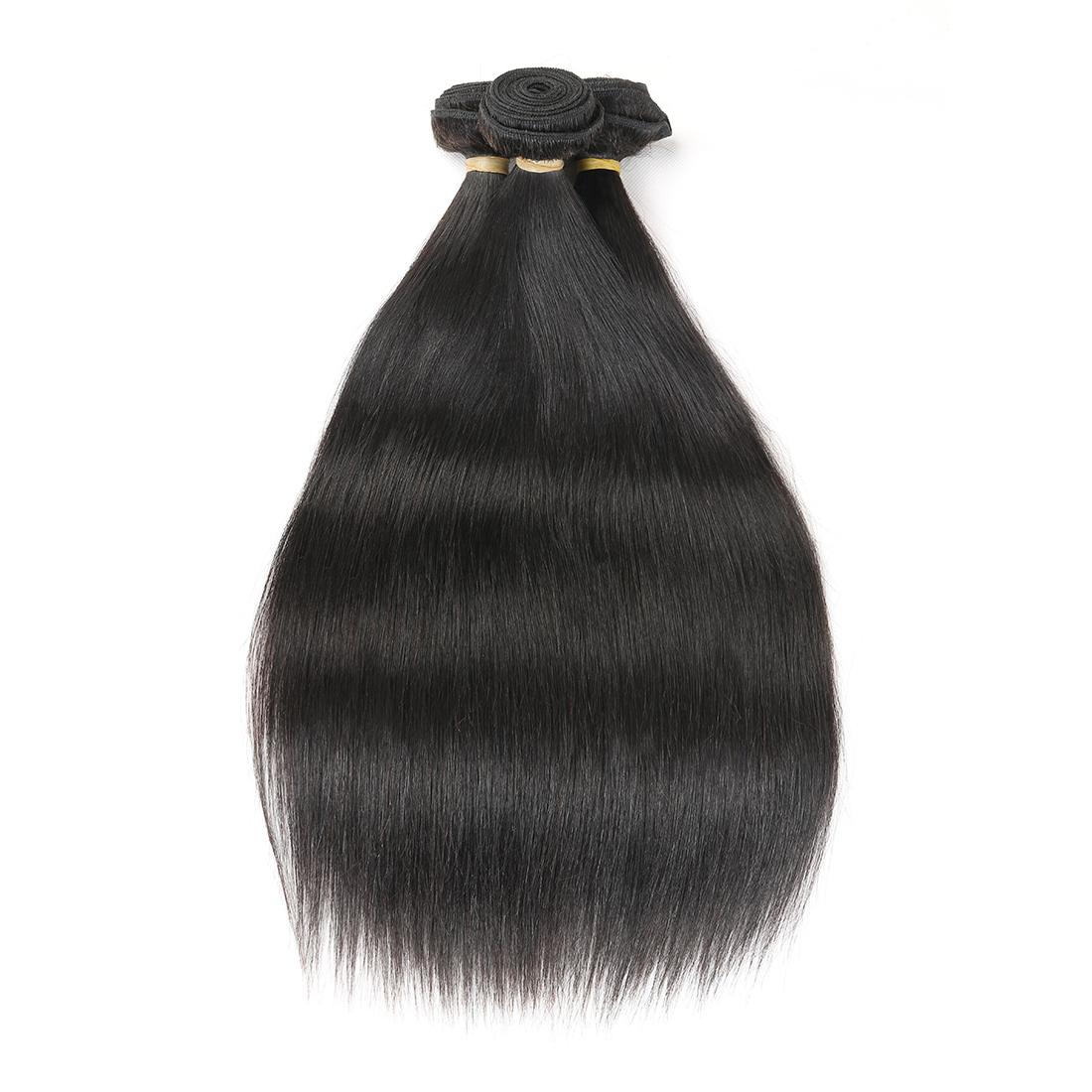 8A Indian Straight 3 Bundles Human Virgin Hair Weave