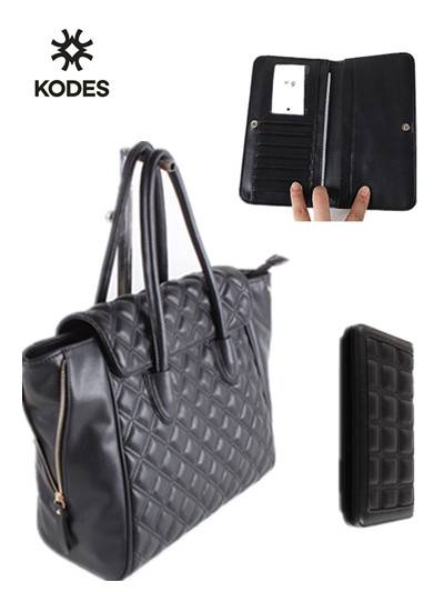 Fashion Ladies PU Handbag matched a wallet