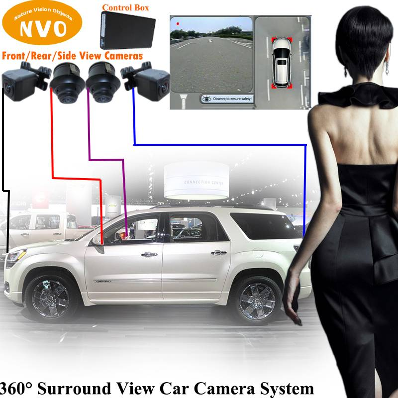 360 degree around view best car camera parking assist system with DVR function