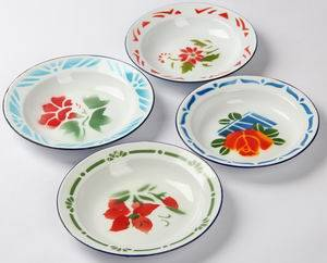 Hot sale 14-26cm enamelware soup plate deco and plain
