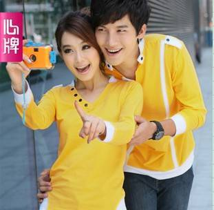 Couple long sleeve T Shirt 2011 new arrival autumn clothing Corea L168