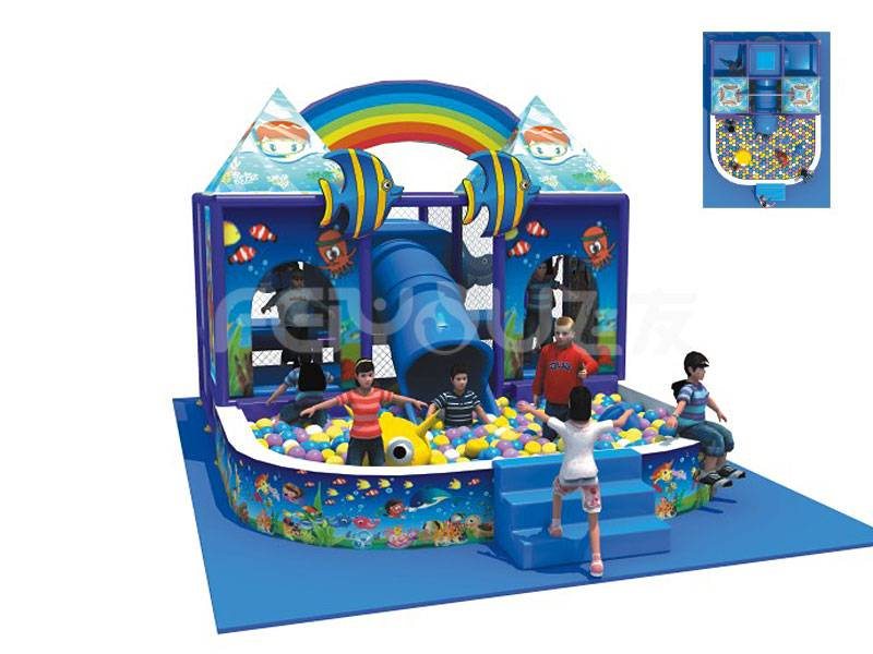 2015 top selling ball pool for kids amusement kids naughty castle
