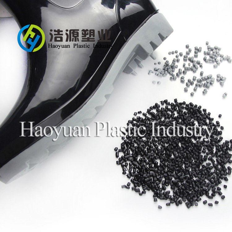 Black Virgin PVC Raw Material for Wellington
