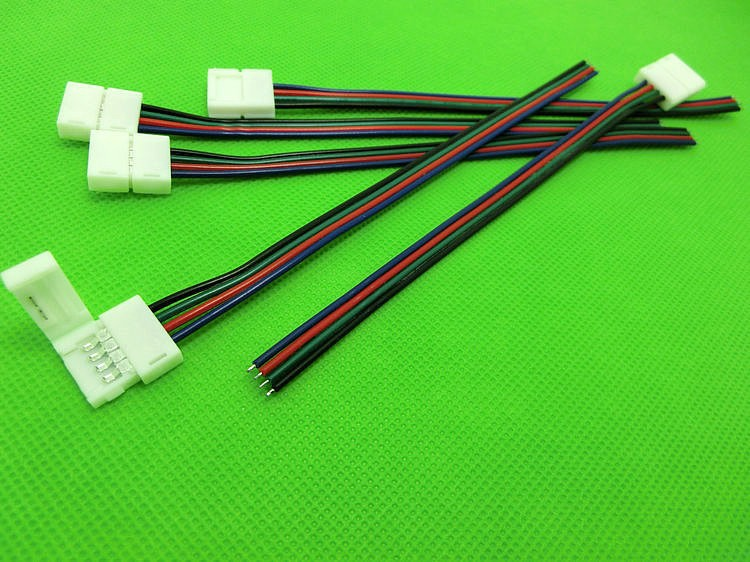 10mm 4pin PCB board connector wire for 5050 RGB color strip LED connector wire