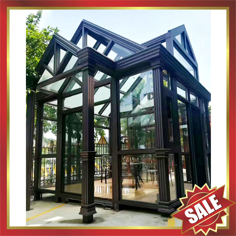 Prefab glass house,sunroom,sunhouse,aluminium house,long life for usage