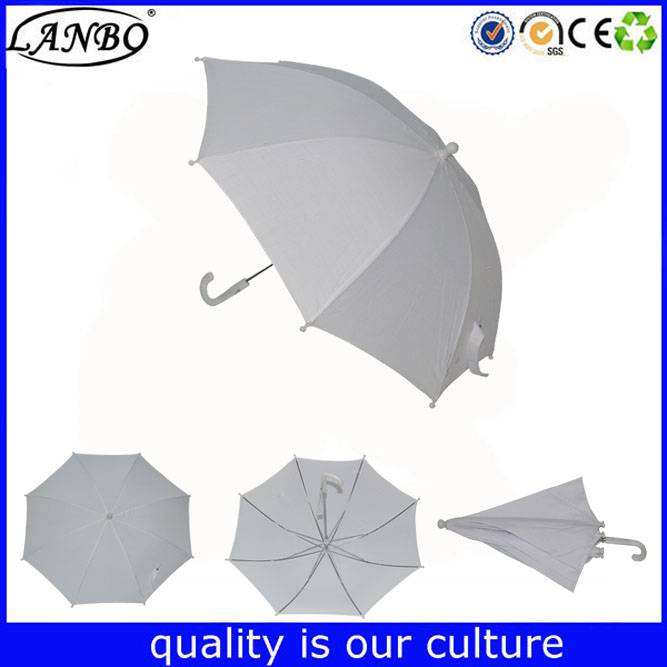 Straight child size funny school kids umbrella for student
