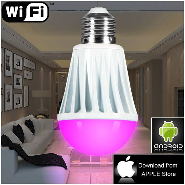 wireless remote light,smart RGBW dimmable led bulb by wifi led dimmer