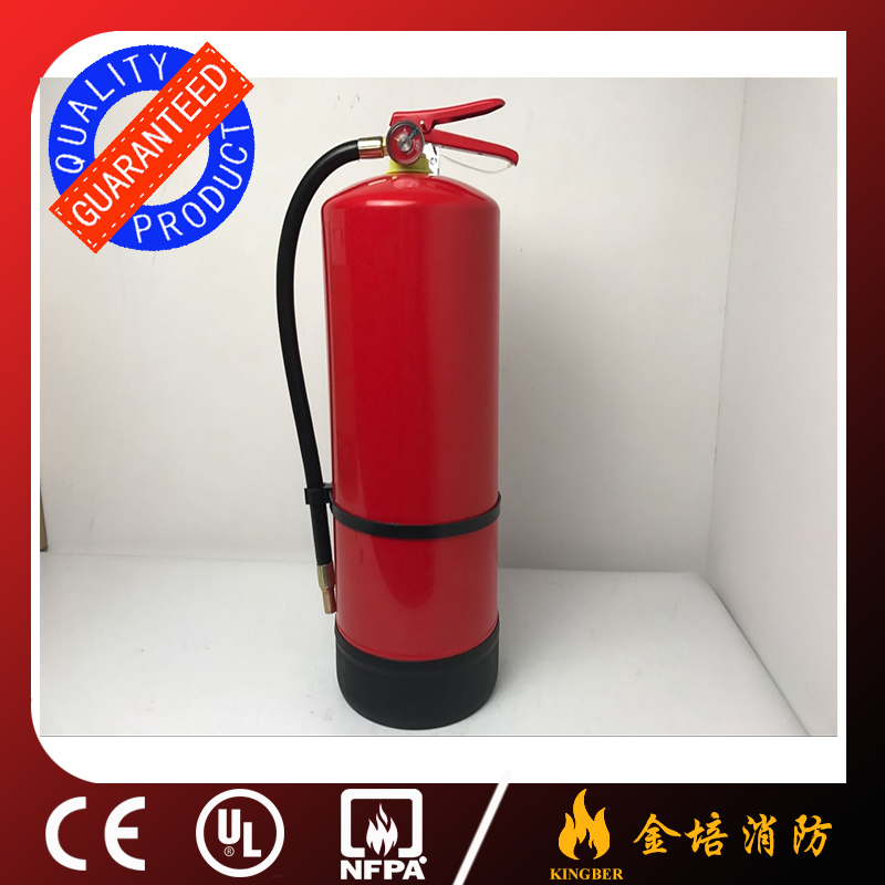 9KG Portable Cold-Roll Steel ABC40 Dry Powder Extintor for Kitchen Using with bottem cover