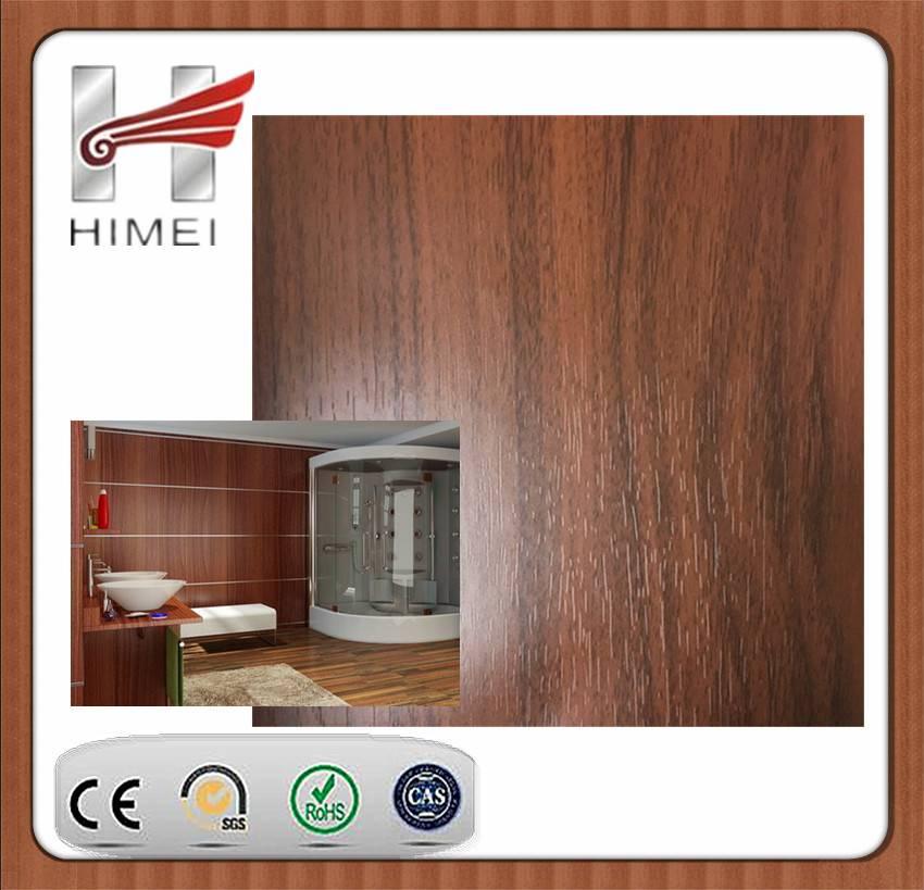 Wooden color VCM steel sheet for bathroom decoration