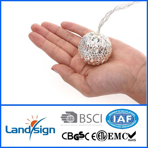 Cixi Landsign gift&craft 10LED solar string lantern light warm white lamp