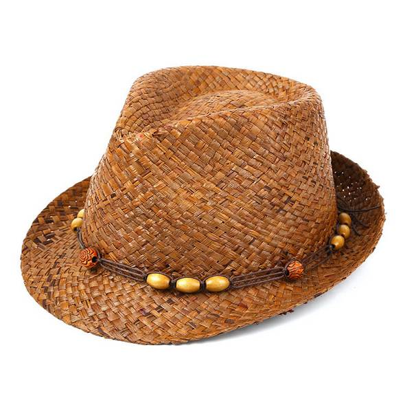Raffia Straw Hat Good Quality Character Hollow Cowboy Hat