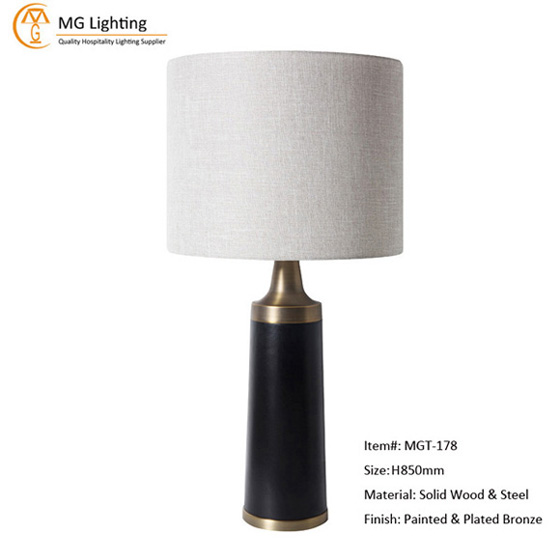 MGT-178 Solid Wood Table Lamp