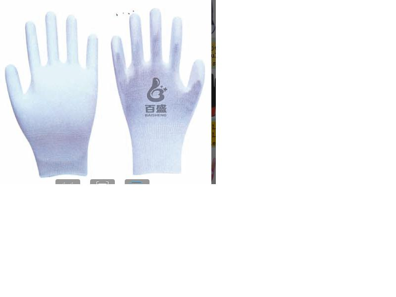 13G polyester glove with PU coated