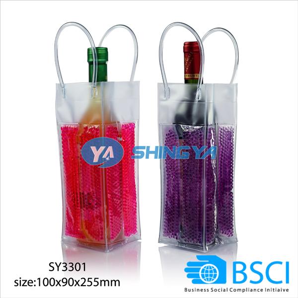 PVC Wine Wrap Cooler Beer Cooler Gel Ice Pack Bottle Cooler
