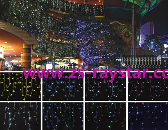 zhongshan 3m144leds colorful 220v ice lights for decoration