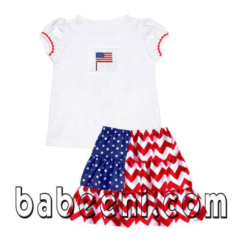 Independent smocked girl set