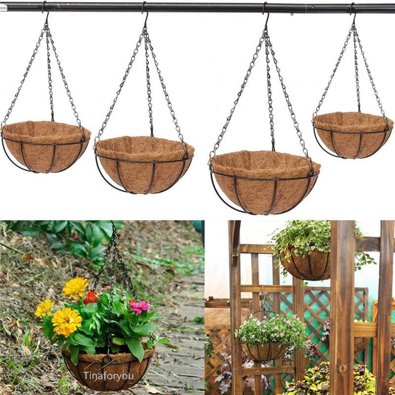 Antique moss Hanging Basket/12 Inch Round Hanging Basket Fibre Liner
