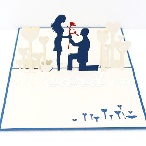 Propose-Kirigami-Origami-Laser cut-Paper cutting-Pop up-3D-Handmade-Love-Valentine card