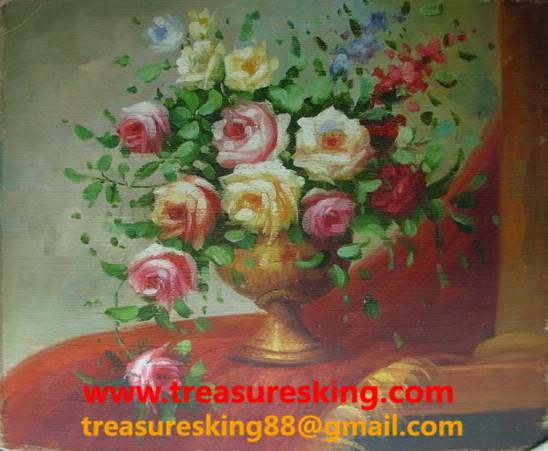 Canvas Oil painting 100%hand painter flower