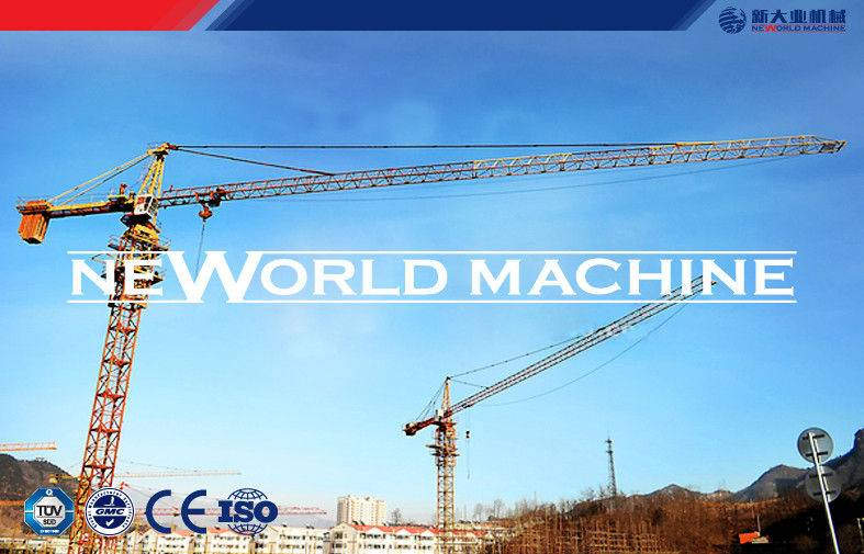Construction tower crane QTZ63 tower crane 0 - 0.6r / min ISO9001 CE approved
