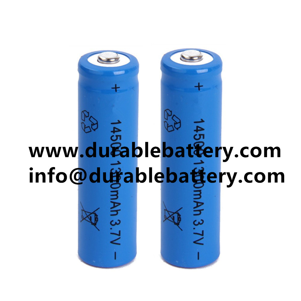 CE,SGS approved 3.7v li-ion 14500 rechargeable battery 1300mah icr14500 cell