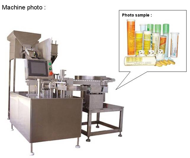 China pharmaceutical machine for Effervescent tablet tube filling machine